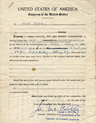 Subpoena issued to Helen Quirini, 1954